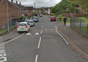 A man was beaten in his bed in the Bawnmore Park area. Credit: Google