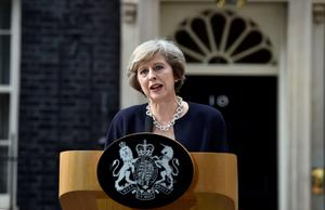 New Prime Minister Theresa May makes a speech outside 10 Downing Street, London, after meeting Queen Elizabeth II and accepting her invitation to become Prime Minister and form a new government. PA
