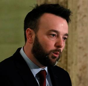 Poor: SDLP leader Colum Eastwood has criticised the DUP and Sinn Fein