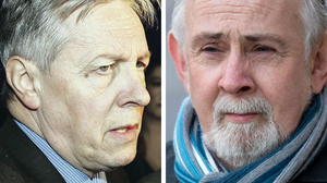 Peter Robinson (left) and former IRA man John Downey