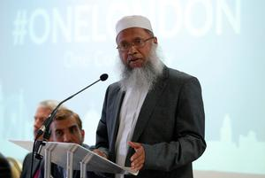 Abdul Qayum, Chief Imam of East London Mosque, speaking during a press conference at East London Mosque and London Muslim Centre in Whitechapel, east London, following Saturday's terrorist attack. PA