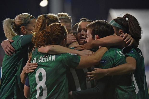 PACEMAKER PRESS  BELFAST 27/11/2020 NI v Belarus Women's Euro Qualifiers Northern Ireland's Rachel Furness scores   during this evening's game at Seaview  in Belfast. Pic Colm Lenaghan/Pacemaker