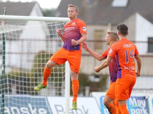 I've still got it: Glenavon's Sammy Clingan nets his first goal for his new club  Picture by Jonathan Porter/PressEye.com