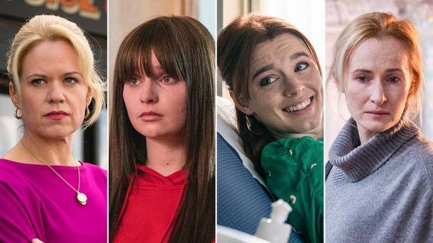 The Three Families cast includes Sinead Keenan, Lola Petticrew, Amy James-Kelly and Genevieve OReilly. Pic BBC