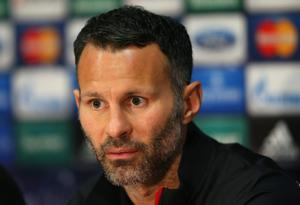 MANCHESTER, ENGLAND - MARCH 31:  Ryan Giggs of Manchester United looks on as he faces the media during a press conference at Old Trafford on March 31, 2014 in Manchester, England.  (Photo by Alex Livesey/Getty Images)