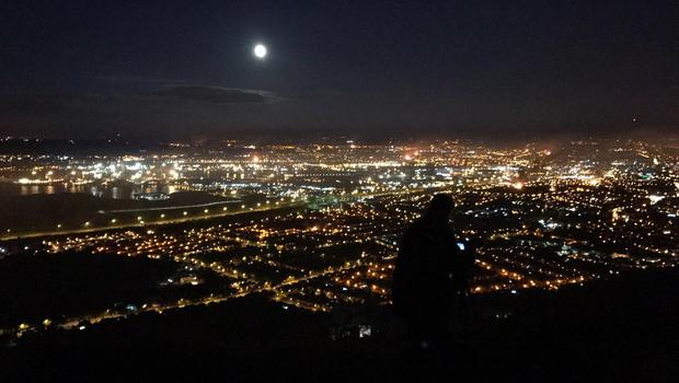 The Eleventh Night from above Belfast. Pic Stephen Owens.