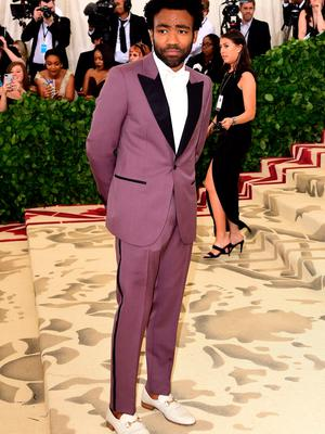 Donald Glover aka Childish Gambino attending the Metropolitan Museum of Art Costume Institute Benefit Gala 2018 in New York, USA. PRESS ASSOCIATION Photo. Picture date: Monday May 7, 2018. See PA story SHOWBIZ MET Gala. Photo credit should read: Ian West/PA Wire