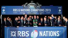 Ireland team after winning the 2015 RBS Six Nations match at the BT Murrayfield Stadium, Edinburgh. PRESS ASSOCIATION Photo. Picture date: Saturday March 21, 2015. See PA story RUGBYU Scotland. Photo credit should read: Lynne Cameron/PA Wire