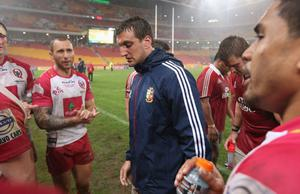 BRISBANE, AUSTRALIA - JUNE 08:  Sam Warburton, the Lions captain leads his team off the pitch after a narrow victory during the match between the Queensland Reds and the British & Irish Lions at Suncorp Stadium on June 8, 2013 in Brisbane, Australia.  (Photo by David Rogers/Getty Images)
