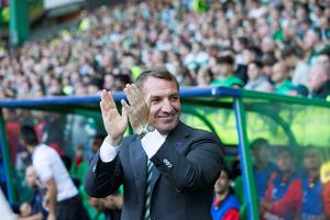 Celtic manager Brendan Rodgers during the UEFA Champions League qualifying play-off, first leg match at Celtic Park, Glasgow. PRESS ASSOCIATION Photo. Picture date: Wednesday August 17, 2016. See PA story SOCCER Celtic. Photo credit should read: Jeff Holmes/PA Wire