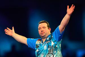 Brendan Dolan in action at Alexandra Palace (James Chance/Getty Images)