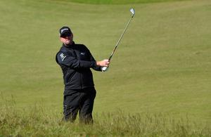 NEWCASTLE, NORTHERN IRELAND - MAY 29:  Peter Hanson of Sweden hits his 2nd shot on the 13th hole during the Second Round of the Dubai Duty Free Irish Open Hosted by the Rory Foundation at Royal County Down Golf Club on May 29, 2015 in Newcastle, Northern Ireland.  (Photo by Ross Kinnaird/Getty Images)