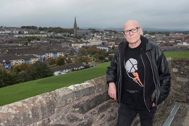 McCann looking out over Derry
