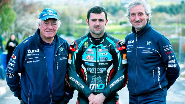 Dream team: Hector Neill with new recruit Michael Dunlop and son Philip Neill