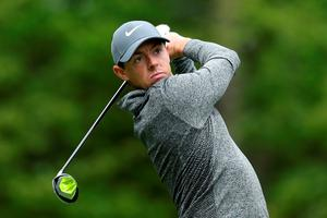 NORTON, MA - SEPTEMBER 05:  Rory McIlroy of Northern Ireland plays his shot from the fifth tee during the final round of the Deutsche Bank Championship at TPC Boston on September 5, 2016 in Norton, Massachusetts.  (Photo by David Cannon/Getty Images)