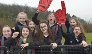 Mandatory Credit: Rowland White / PressEye Belfast Telegraph Schools' Cup Semi-Finals FANS PICTURES Venue: Lisnagarvey Date: 11th February 2015 Caption: Banbridge