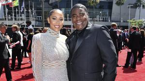 Megan Wollover and Tracy Morgan, pictured in July 2019 (AP)