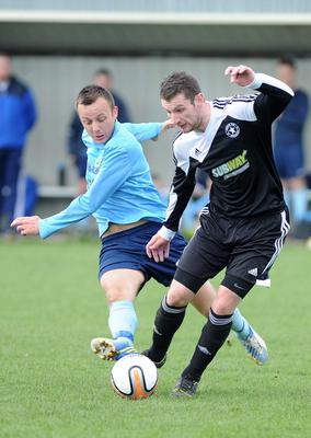 Action from Ards Rangers v Crumlin Star on April 12