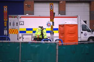 Police at the scene in Grays (Kirsty O'Connor/PA)