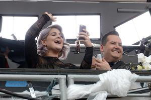 HOLLYWOOD, CA - MARCH 02:  TV personalities Kelly Osbourne (L) and Ross Mathews attend the Oscars held at Hollywood & Highland Center on March 2, 2014 in Hollywood, California.  (Photo by Kevork Djansezian/Getty Images)