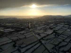 The PSNI's air support tweeted this picture 'from the office'. @PSNIAirSupport