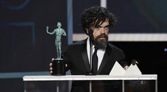 Peter Dinklage accepts Outstanding Performance by a Male Actor in a Drama Series for 'Game of Thrones' onstage during the 26th Annual Screen ActorsGuild Awards at The Shrine Auditorium on January 19, 2020 in Los Angeles, California. (Photo by Kevork Djansezian/Getty Images for Turner)