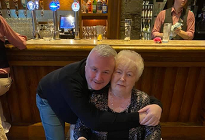 Stephen Nolan and mother Audrey