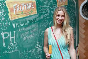 INDIO, CA - APRIL 12:  Whitney Port stopped by the Fruttare Hangout at Coachella to share what keeps her looking on the bright side on April 12, 2013 in Indio, California. New Fruttare Fruit Bars are now available in stores nationwide. #itsallgood  (Photo by Todd Oren/Getty Images for Fruttare)
