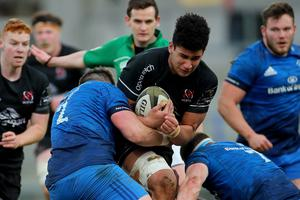 Cormac Izuchukwu in action during Ulster A's win over their Leinster counterparts last month.