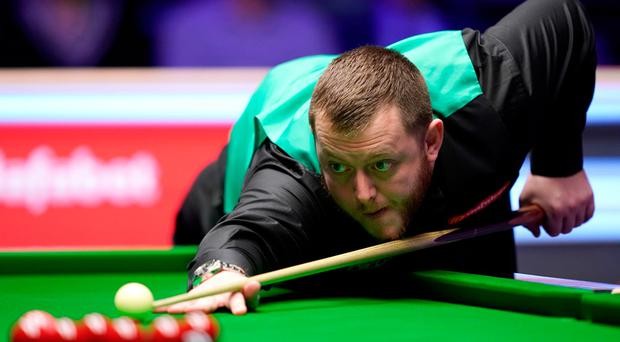 Mark Allen during his match against David Gilbert during day two of the 2020 Dafabet Masters at Alexandra Palace, London. John Walton/PA Wire