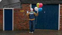 The Northampton clown spotted with some balloons