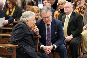 Mike Nesbitt pictured at the funeral and service of thanksgiving for the life of  journalist Lyra McKee. Photo by Kelvin Boyes / Press Eye.