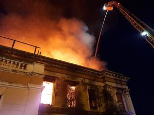 Fire in the early hours of Monday morning. Pic NIFRS