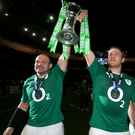 Glory days: Rory Best and I lift the Six Nations crown in 2014