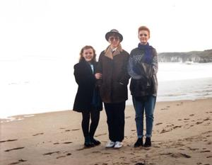 Mum Fern, big sister Seanagh Turner and Kerry on Christmas Day 1988, out for a walk at the White Rocks at Portrush.