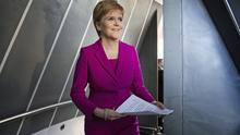 Nicola Sturgeon said the administrations in Scotland and Northern Ireland could benefit in the immediate future from a portion of the £20 billion it would cost to build the crossing (Jane Barlow/PA)