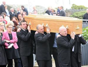 Picture by Freddie Parkinson/Press Eye © Wednesday 23rd March 2016 St Patrick's Church, Downpatrick. Hundreds turned out for the funeral of Catherine Kenny who died on Belfast streets.
