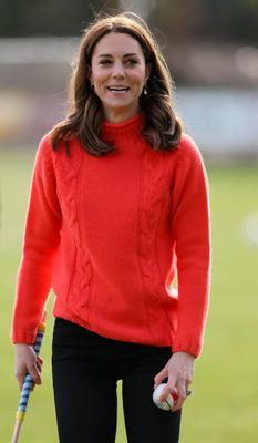 The Duchess of Cambridge during a visit to Salthill Knocknacarra GAA club in Galway to learn more about traditional sports during the third day of their visit to the Republic of Ireland. PA Photo. Picture date: Thursday March 5, 2020. See PA story ROYAL Cambridge. Photo credit should read: Brian Lawless/PA Wire