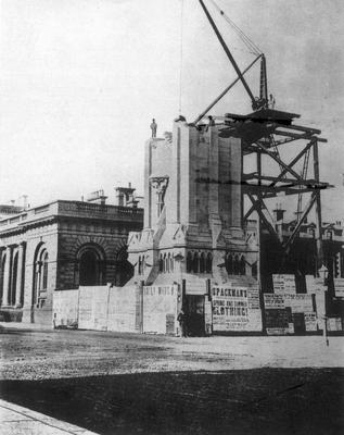 The construction of the Albert Memorial, dating back yo 1867.