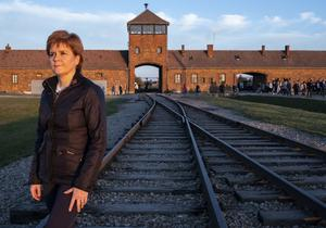 She said seeing the camps for the first time brought home the scale of what happened (Holocaust Educational Trust/PA)
