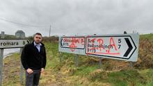 UUP councillor Alan Lewis has been targeted by graffiti.