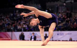 Max Whitlock on the floor exercise during the Artistic Gymnastics British Championships 2016 at the Echo Arena, Liverpool. PRESS ASSOCIATION Photo. Picture date: Saturday April 9, 2016. See PA story GYMNASTICS Liverpool. Photo credit should read: Nigel French/PA Wire. RESTRICTIONS: EDITORIAL USE ONLY, NO COMMERCIAL USE WITHOUT PRIOR PERMISSION, PLEASE CONTACT PA IMAGES FOR FURTHER INFO: Tel: +44 (0) 115 8447447.