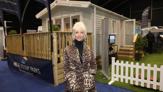 Debbie McGee  at the Holiday World Show at the TEC centre.  Photo by Peter Morrison