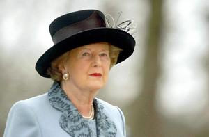 File photo dated 10/2/05 of Former Prime Minister Margaret Thatcher at the Churchill Museum Opening, Cabinet War Rooms, London