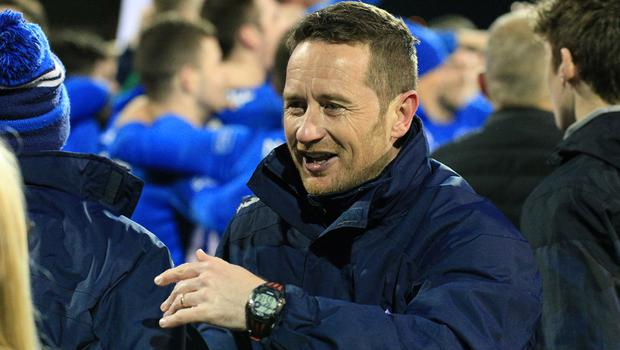 Newry City manager Darren Mullen was buzzing come the full-time whistle at Carrick Rangers.