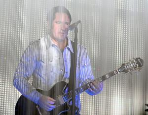 INDIO, CA - APRIL 12:  Musician Trent Reznor from the band How to Destroy Angels performs onstage during day 1 of the 2013 Coachella Valley Music & Arts Festival at the Empire Polo Club on April 12, 2013 in Indio, California.  (Photo by Trixie Textor/Getty Images for Coachella)