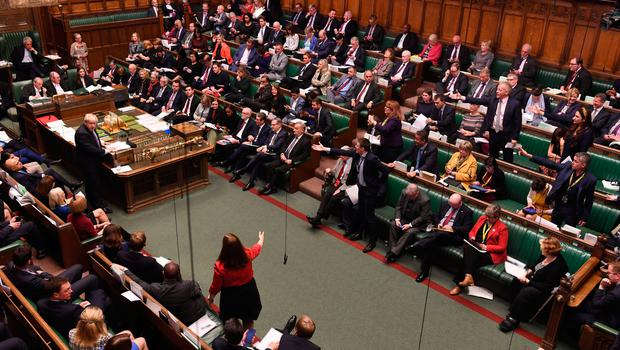 The House of Commons during the debate for the European Union (Withdrawal Agreement) Bill: Second Reading.