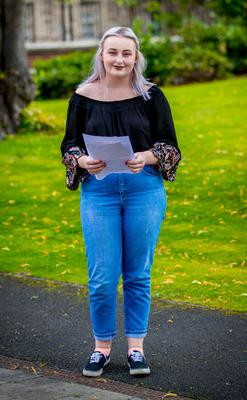 Claire Murphy receives A-Level results at St Dominic's Grammar School for Girls on August 17th 2017 (Photo by Kevin Scott / Belfast Telegraph)