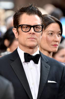 HOLLYWOOD, CA - MARCH 02:  Actor Johnny Knoxville and wife Naomi Nelson attend the Oscars held at Hollywood & Highland Center on March 2, 2014 in Hollywood, California.  (Photo by Frazer Harrison/Getty Images)