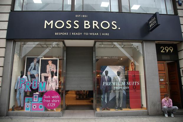 Moss Bros currently runs 128 stores across the UK (Yui Mok/PA)